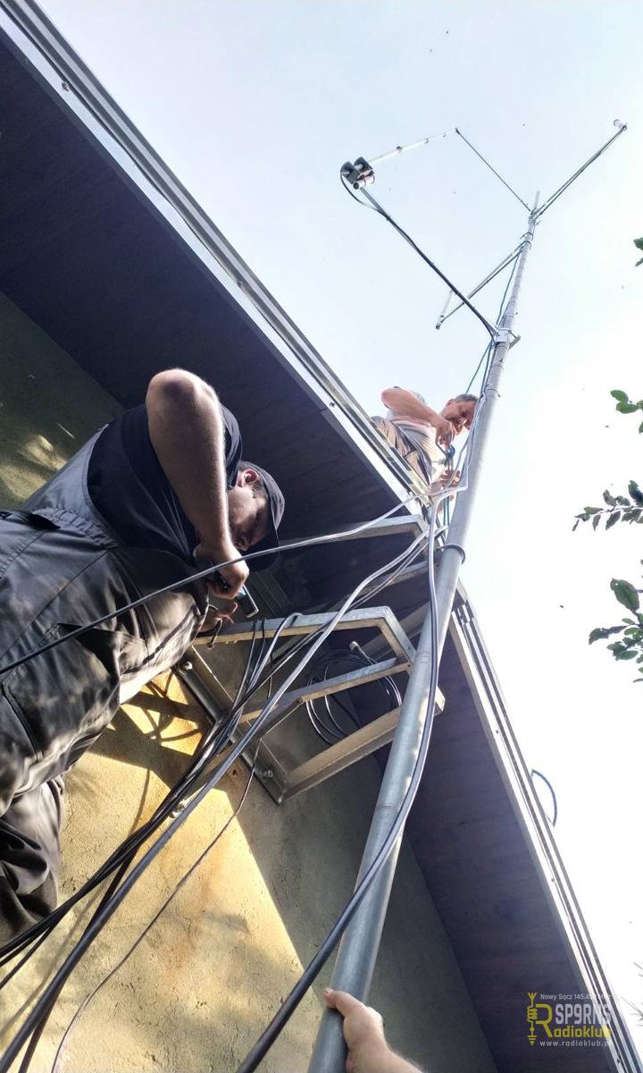 Przegląd i konserwacja masztów antenowych Bikon CB19AM, SR9NFB